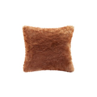 Madison Park Signature Red Fox Faux Fur Pillow