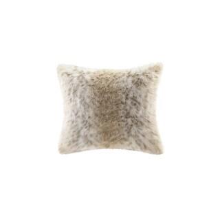 Madison Park Signature Snow Leopard Faux Fur Pillow