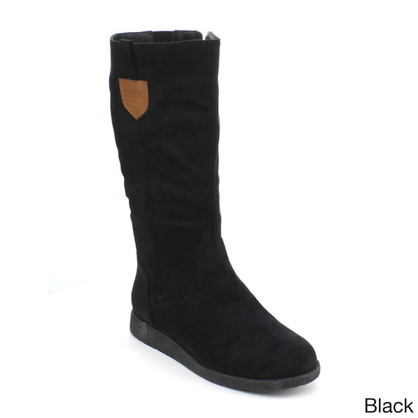DBDK Women's 'Poria-2' Knee-high Suedette Boots