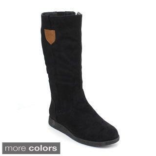 DBDK Women's 'Poria-2' Knee-high Suedette Boots