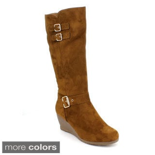 DBDK Women's 'Monicca-2' Knee-high Wedge Boots