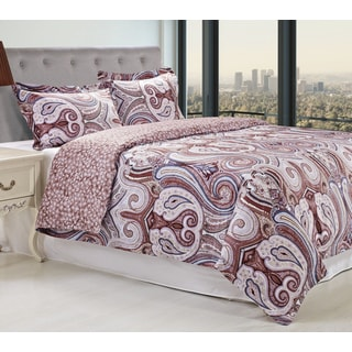 Simple Elegance Cotton 300 Thread Count Waterloo Duvet Cover Set