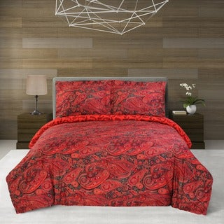 Simple Elegance Cotton 300 Thread Count Redwood Duvet Cover Set