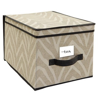 The Macbeth Collection Large Natural Zebra Storage Box