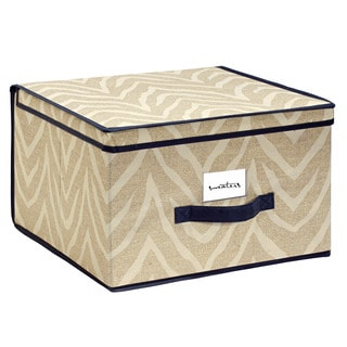 The Macbeth Collection Jumbo Natural Zebra Storage Box