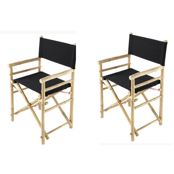Phat Tommy Foldable Directors Chair Set (Set Of 2)