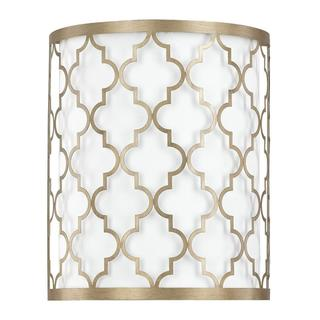 Ellis 2-light Wall Sconce in Brushed Gold Finish