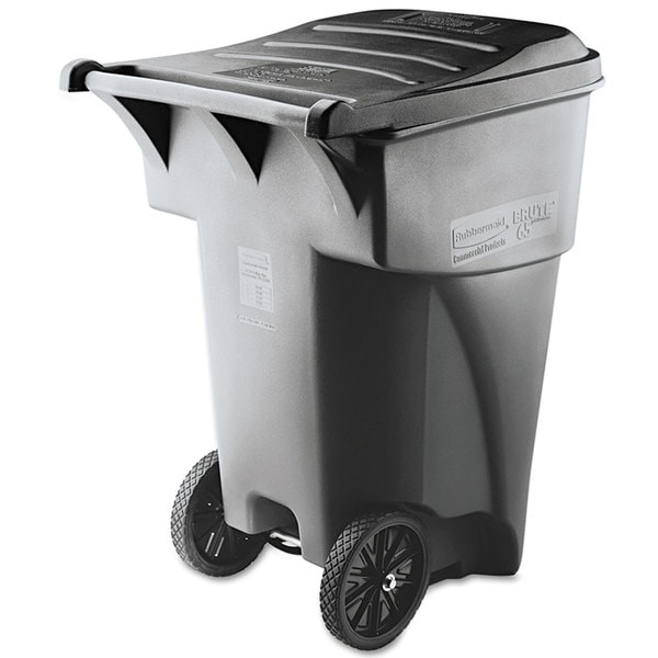 Rubbermaid Grey Commercial Brute Rollout Heavy-Duty Square Waste Container