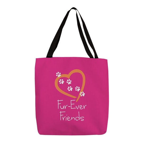 Thumbprintz 'Forever Friends' Pink Graphic Print Tote