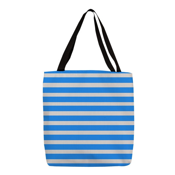 Thumbprintz Robin Egg Bright Stripes Tote