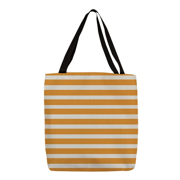 Thumbprintz Orange Bright Stripes Printed Tote