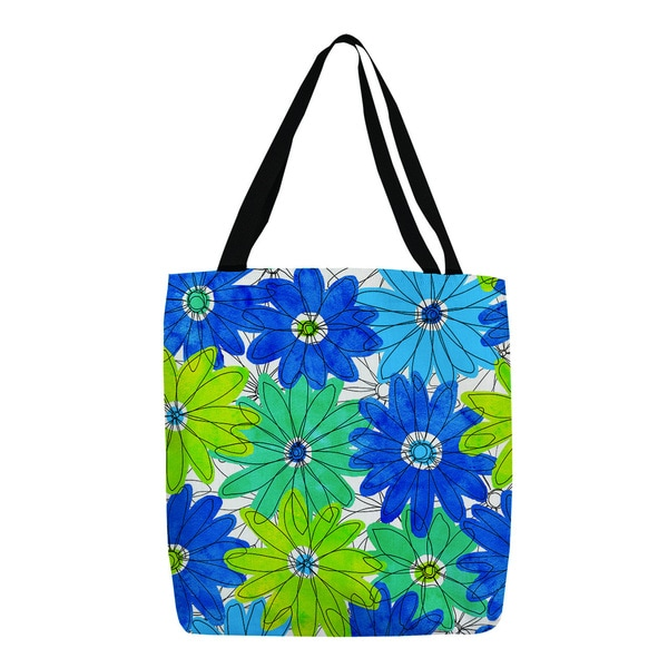 Thumbprintz 'Funky Florals' Royal Blue Daisy Tote 13967042