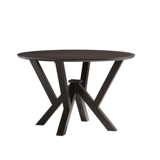Powell Prism Wenge Round Dining Table