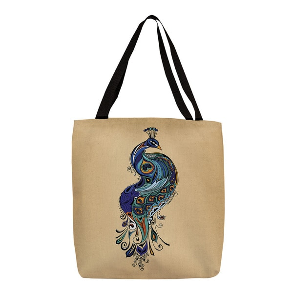 Thumbprintz Peacock Graphic Print Tote