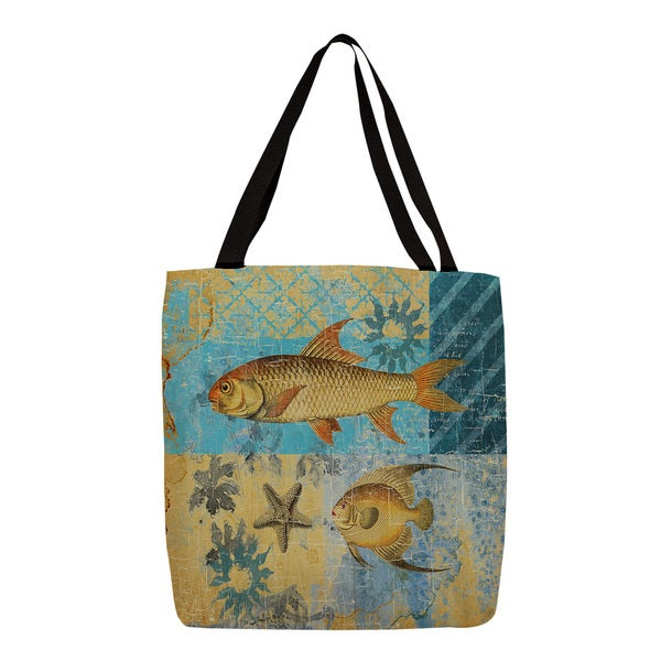Thumbprintz 'Caribbean Cove IV' Printed Canvas Tote