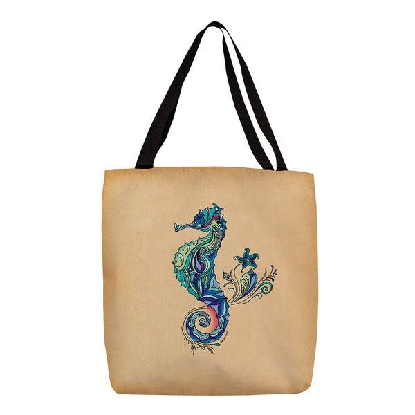 Seahorse Graphic Print Tote 13967112