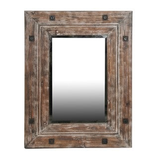 Reclaimed Distressed Brown Medium Mirror