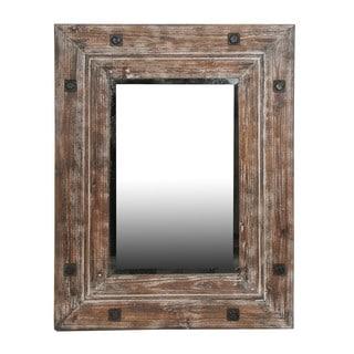 Reclaimed Distressed Brown Medium Mirror