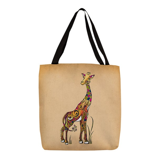 Thumbprintz Giraffe Graphic Print Tote