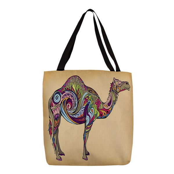 Thumbprintz Colorful Camel Graphic Print Tote