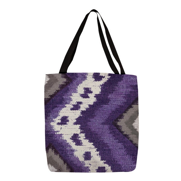 Thumbprintz Plum Tribal Ikat Printed Tote