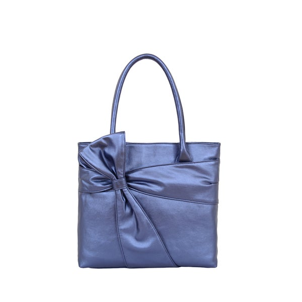 Mellow World 'Carissa' Luxury Bow Metallic Tote