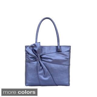 Mellow World 'Carissa' Luxury Bow Metallic Tote