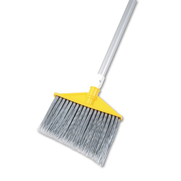 Rubbermaid Silver/ Grey Aluminum Handle Commercial Angled Large Brooms
