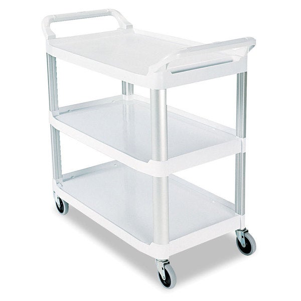Rubbermaid Off-white 3-shelf Commercial Open Sided Utility Cart
