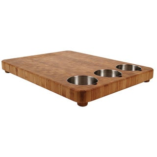 Totally Bamboo 20-3475 3-bowl Butcher Block Prep Board