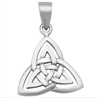 Kele & Co's Celtic Irish love Knot pendant. made in .925 Sterling Silver