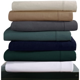Luxury 200-GSM Flannel Hemstitched Deep Pocket Sheet Set or Pillowcase Separates