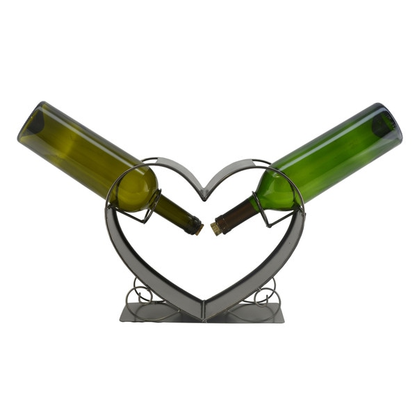 WineBodies Two of a Kind Heart Metal Wine Bottle Holder