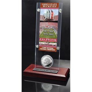 Ohio State University 7-Time National Champs Ticket and Bronze Coin