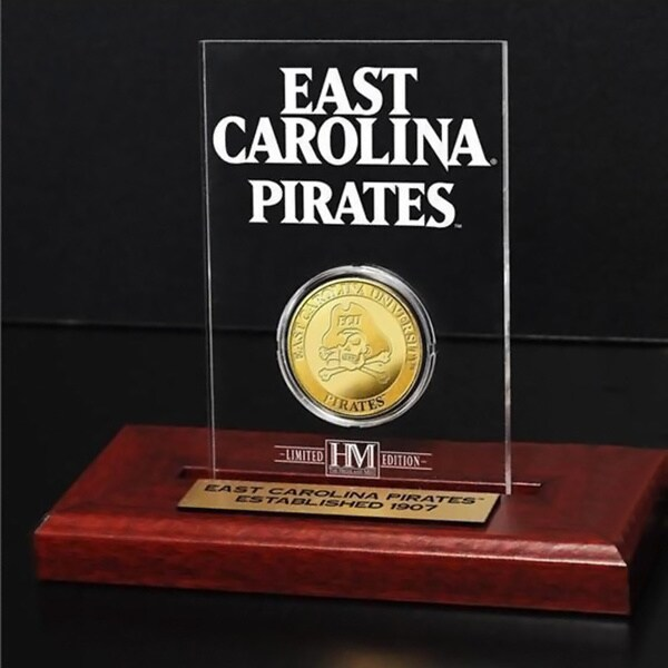 East Carolina University Gold Coin in Etched Acrylic