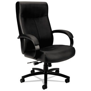 Basyx VL680 Series Big and Tall Black Leather Chair