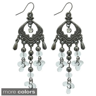 Kate Marie 'Aloma' Rhinestone Acrylic Dangling Fashion Earrings