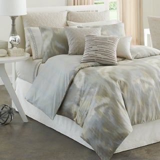 Modern Living Caravan Tan Ikat Pattern 4-piece Comforter Set
