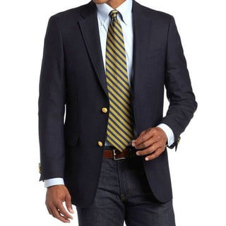 Tommy Hilfiger Men's Navy Slim Fit Blazer with Gold Buttons