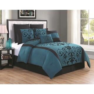 Cassandra Geometric Floral 8-piece Comforter Set