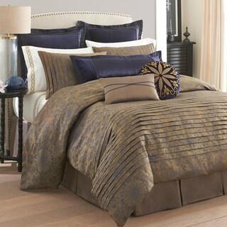 Modern Living Tivoli Brown/ Goldtone Comforter Set