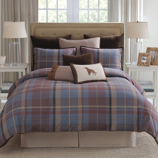 Modern Living Baxter Blue Plaid 4-piece Comforter Set