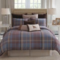 Modern Living Baxter Blue Plaid Comforter Set