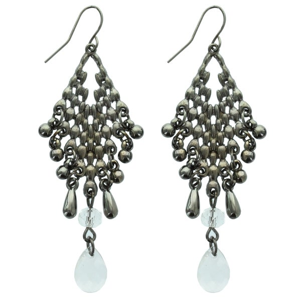 Kate Marie 'Erika' Arcylic Rhinestone Dangle Hook Earrings