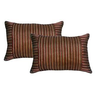 Mini Stripe Brick 15 x 22 Corduroy Wrap Pillows (Set of 2)