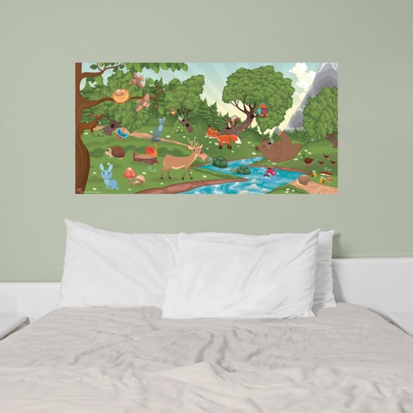 Peel and Stick Forest Mural