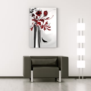 Rabi Khan 'Red Orchid' Gallery-wrapped Canvas Art
