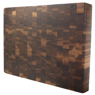 Kobi Blocks 1.5-inch Rectangular Walnut Butcher Block Cutting Board