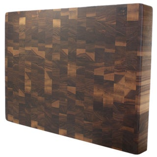 Kobi Blocks 2-inch Rectangular Walnut Butcher Block Cutting Board