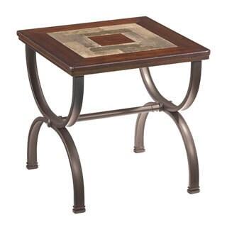 Signature Design by Ashley 'Zander' Medium Brown Square End Table